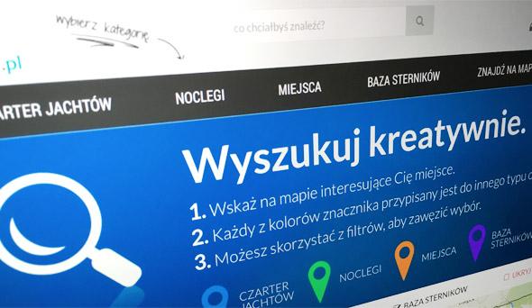 Mapa wyszukiwania noclegów na Mazurach