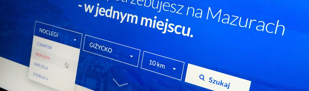 Wyszukiwarka noclegów Mazureo.pl